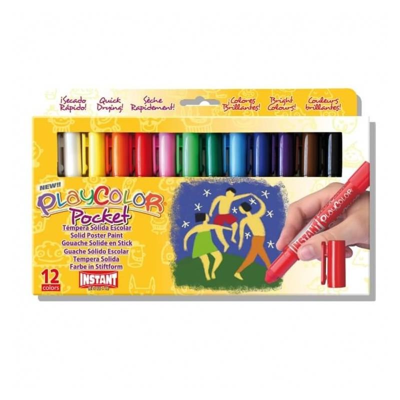 Témpera Playcolor Pocket 12 colores surtidos