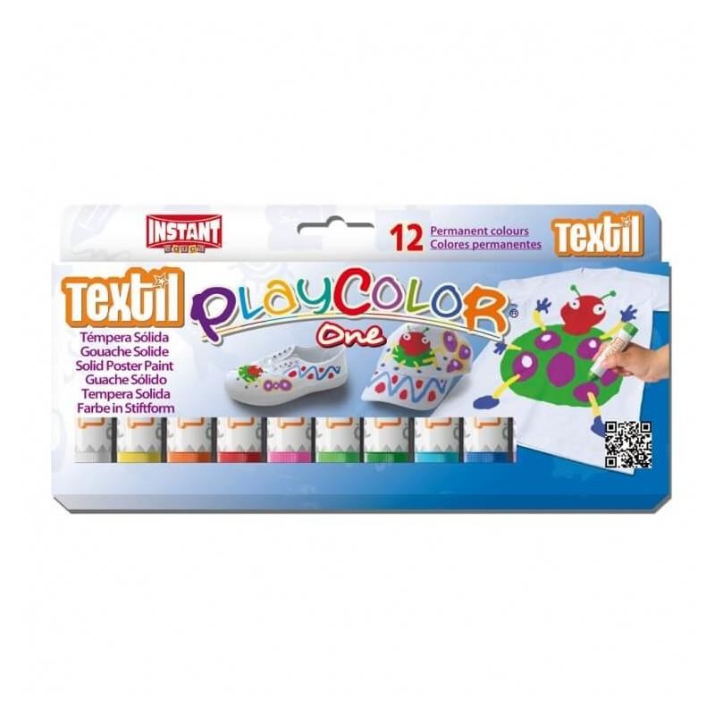 Témpera Playcolor One Textil 12 colores surtidos