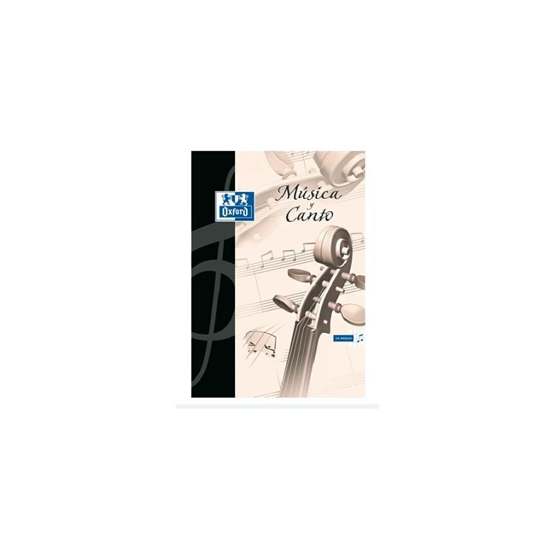 Cuaderno de Música y Canto Oxford - A4