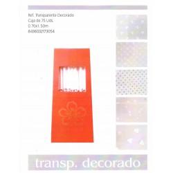 ROLLO CELOFAN TRANSP.DECORADO 70X150MM