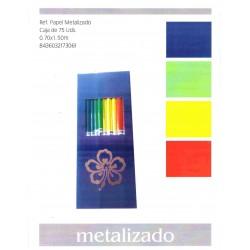 PAPEL REGALO METALIZADO 70x150 CAJA 75UN.