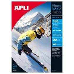 PAPEL PHOTO APLI A4 BASIC 180GR/20H