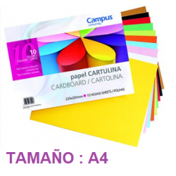 Bloc Cartulinas Campus 10 colores 235x320