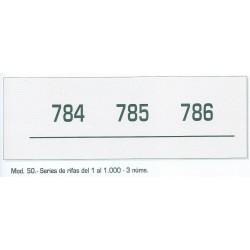 Talonarios Rifas 1-1000 Nº 50 15 unds