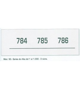 Talonarios Rifas 1-1000 Nº 50