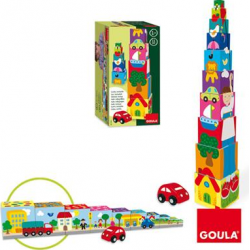 JUEGO EDUCT.GOULA CUBOS APILAB.COCHE