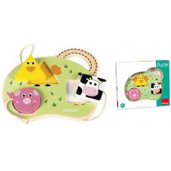 JUEGO EDUCATIVO GOULA PUZZLE 3 ANIMALES
