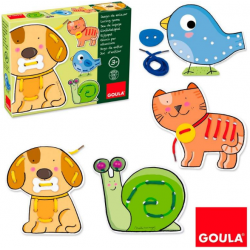 JUEGO EDUCATIVO GOULA ENLAZAR ANIMALES