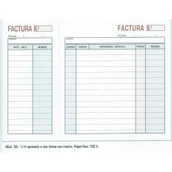 Talonarios FacturasNº 30 10 unds