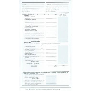 Talonarios Nominas Nº 84F 10 unds