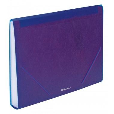Carpeta clasificadora Plus Office A4 Violeta 12 separadores