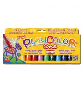 Témpera Sólida Playcolor One 12 colores