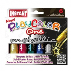 Témpera Solida Playcolor 6 Metalic