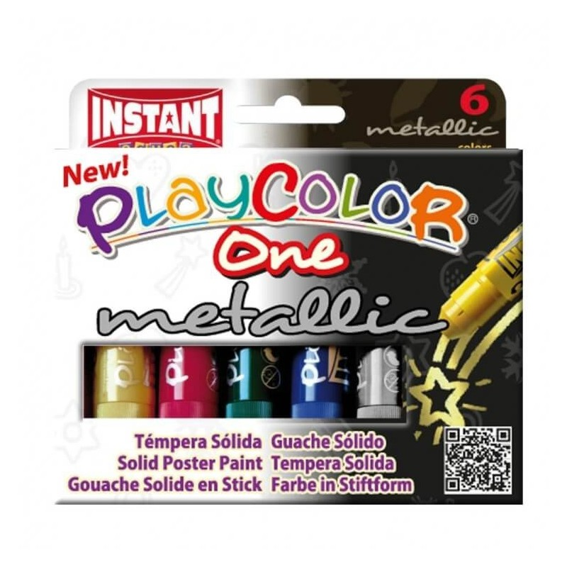 Témpera Solida Playcolor 6 Metalic