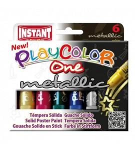Témpera Sólida Playcolor 6 Metalic