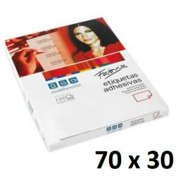 ETIQUETA FABRISA A4 70x29,60 C/100