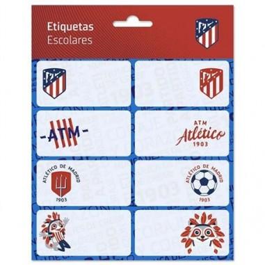 ETIQUETAS ESCOLARES ATLETICO DE MADRID