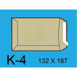 BOLSA 132X187 K-4 KRAFT C/500