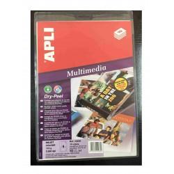 ETIQUETA APLI CD-DVD DRY PEEL