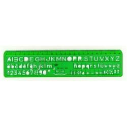 Plantilla Dfh Letras 6 mm 10 und