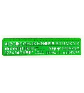 Plantilla Dfh Letras 6 mm