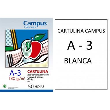 CARTULINA  CAMPUS A3 BLANCO 180GR