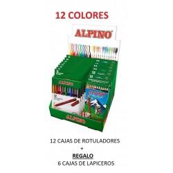 LOTE ALPINO 12 CAJAS ROTUL+6 CAJAS LAPIC.GRATIS