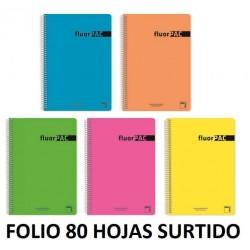 BLOC FOLIO 80H FLUORPAC 4x4 90GR