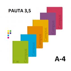 LIBRETA A4 CAMPUS 48H PAUTA 3,5 90GR TAPA POLIPROPILENO