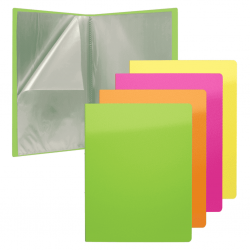 CARPETA FUNDAS A4 FLEXIBLE 40F.NEON