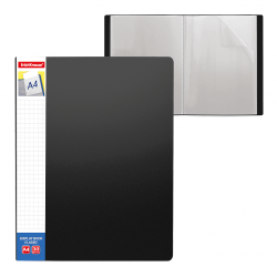 CARPETA FUNDAS A4 FLEXIBLE 30F.NEGRO