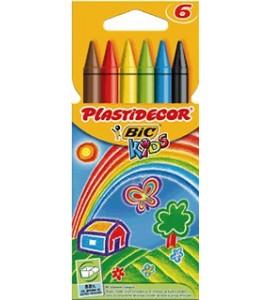 Ceras Plastidecor 6 colores