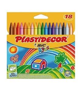 Ceras Plastidecor 18 colores