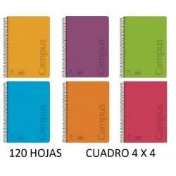 BLOC A4 CAMPUS 120H TAPA POLIPR. 90GR.4X4 CDO.