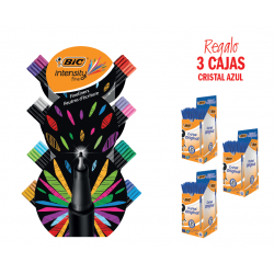 ROTULADOR BIC INTENSITY EXPOSITOR 132 UNIDADES