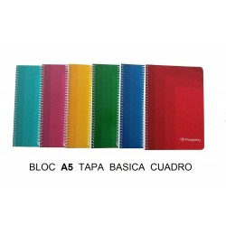 BLOC A5 PERGAMY 80H CUADRO T/BASICA P/10