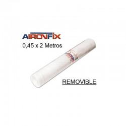 ROLLO AIRONFIX REMOVIBLE TRANSPARENTE 0,45 x 2 M
