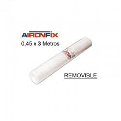 ROLLO AIRONFIX REMOVIBLE TRANSPARENTE 0,45 x 3 M