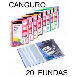 CARPETA 20 FUNDAS CANGURO ESPIRAL