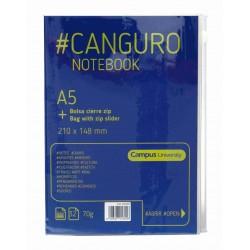 LIBRETA CAMPUS CANGURO A5 32H CIERRE ZIP