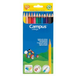 LÁPICES CAMPUS COLLEGE 12 COLORES