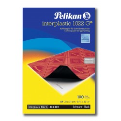 Papel Carbón Pelikan 1022G Interplastic A4 100H