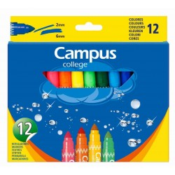 ROTULADOR CAMPUS JUMBO LAVABLE 12COL.