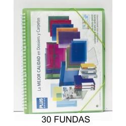 CARPETA FUNDAS PLUS A4 ESPIRAL/GOMAS 30F