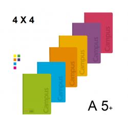 LIBRETA A5+ CAMPUS TAPA PP 48H 90GR 4X4 P/6