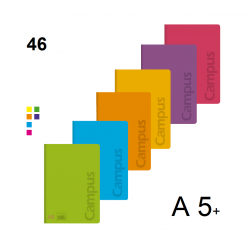 LIBRETA A5+ CAMPUS TAPA PP 48H 90GR PAUTA3,5 P/6