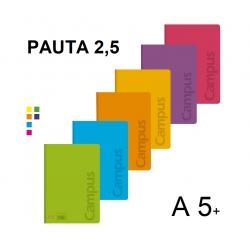 LIBRETA A5+ CAMPUS TAPA PP 48H 90GR 46 P/6