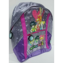 MOCHILA MEDIANA POWER PUFF INFANTIL LILA
