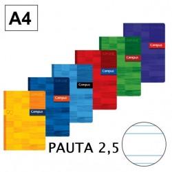 LIBRETA A4 CAMPUS 48H PAUTA 2,5 90GR P/6