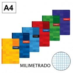 LIBRETA A4 CAMPUS 48H MILIMETRADO 90GR P/6
